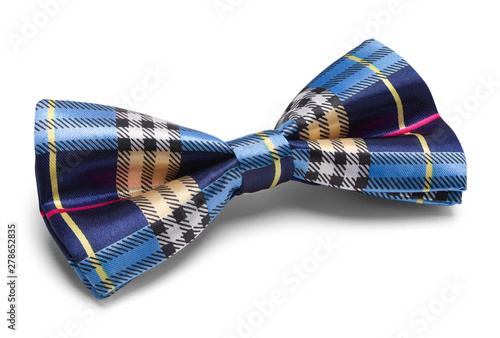 Fototapeta Blue Plaid Bow Tie