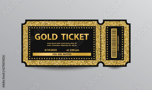 Pinturas sobre lienzo  Golden ticket