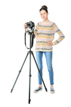 Young Female Photographer On W...