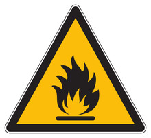Flammable Products Warning Yel...