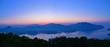 五老ヶ岳公園から見る舞鶴湾の夕焼けの情景