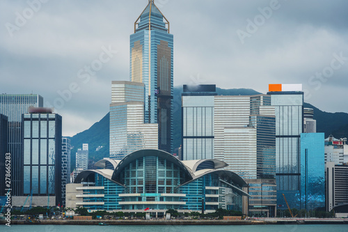 Fototapety, obrazy: Hong Kong skyline, View From Victoria Harbour