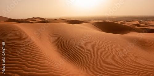 Beautiful sand dunes in the Sahara desert. Wallpaper Mural