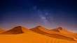 Leinwandbild Motiv Beautiful sand dunes in the Sahara desert.