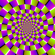 Spirals From Green And Purple ...