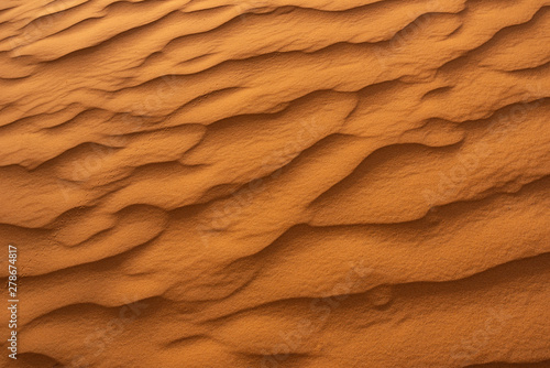 Poster de jardin Brique Beautiful sand dunes in the Sahara desert.