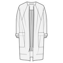 Outer Jacket Fashion Flat Sket...