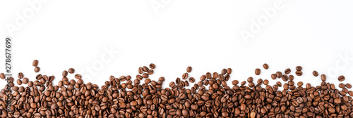 Coffee beans isolated on white background. © One Pixel Studio