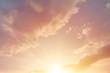 Leinwandbild Motiv beautiful golden sky morning sunrise heaven cloud