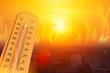 Leinwanddruck Bild - global warming high temperature city heat wave in summer season concept.