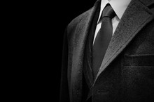 Gentle Businessman Closeup Gro...