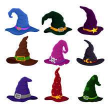 Set Of Hats Wizards In Differe...
