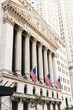 New York Stock Exchange facade with flags
