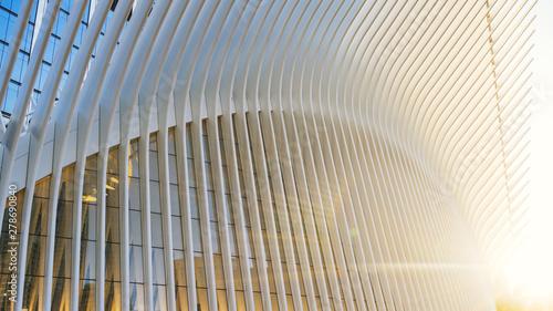 Obraz Glass building at sunrise - fototapety do salonu
