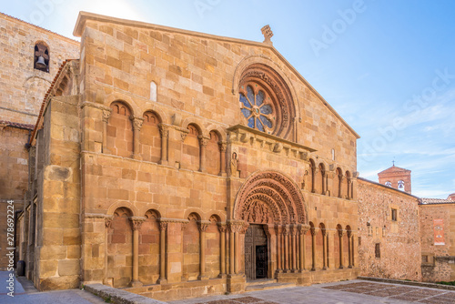 View at the Church of Santo Domingo in Soria - Spain