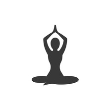 Yoga Icon Template Color Editable. Yoga Symbol Vector Sign Isolated On White Background. Simple Logo Vector Illustration For Graphic And Web Design.
