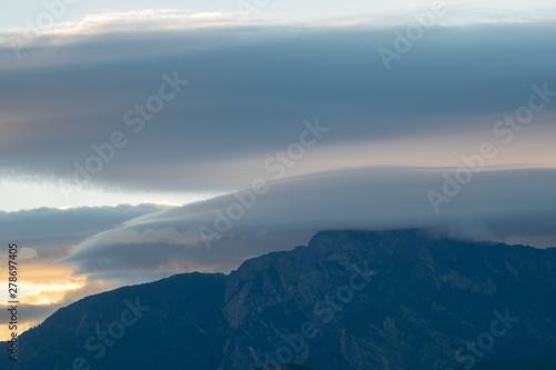 Fototapety, obrazy: Sunset over Alishan Range, Alisan National Park, Taiwan