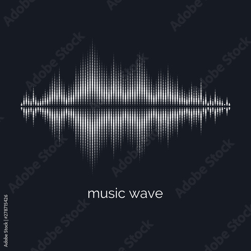 Photo  Sound wave equalizer. Vector illustration on dark background