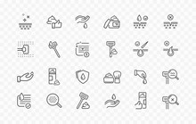 Shave Line Icon Set Isolated O...