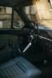 Retro car interior, blurred background