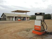 Closed Gas Station In EEUU. Diesel In Desert
