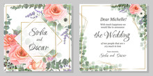 Set Of Floral Cards With Roses