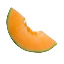 Cut Of Cantaloupe Isolated On White Background