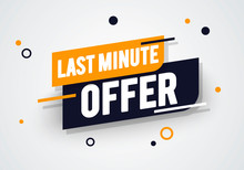 Vector Illustration Dynamic Last Minute Offers Label