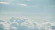 Leinwandbild Motiv Dramatic sky with beautiful soft clouds. Nature background.