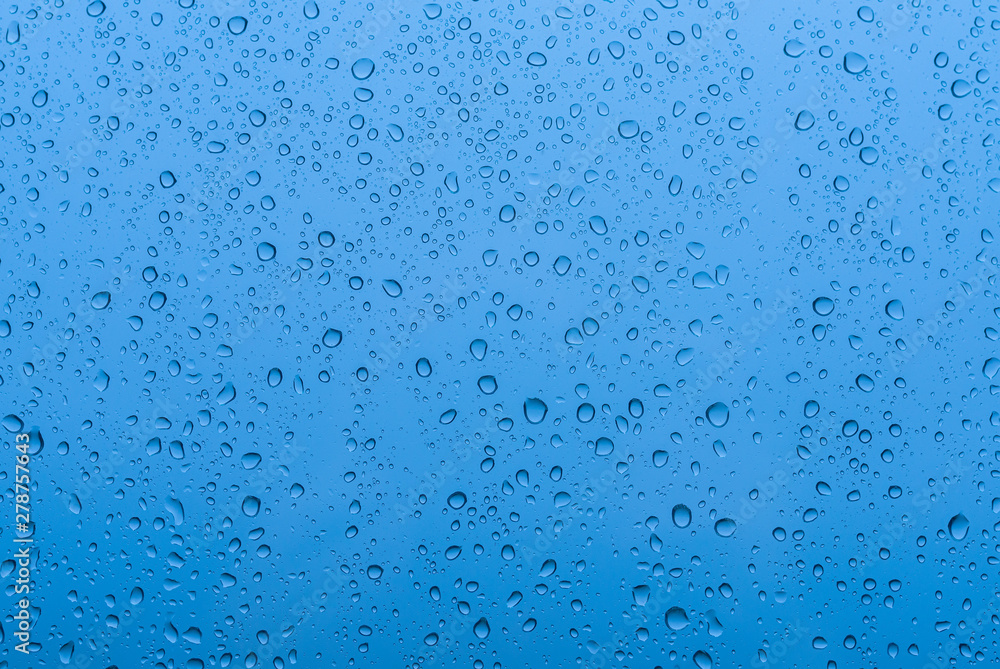 Fototapety, obrazy: Water drops on glass - abstract background.