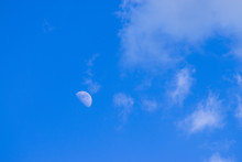 Half Moon In The Daytime Sky W...
