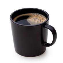 Black Coffee In A Black Cerami...