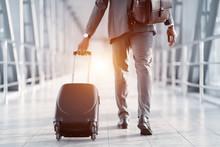 Businessman Hurrying On Plane,...