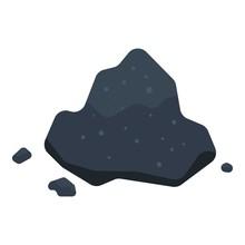 Pile Of Coal Icon. Isometric O...