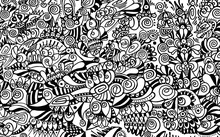 Black And White Pattern On White Background, Abstract Design