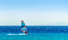 Windsurfer On The Background O...