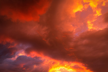 the sky in the sunset light,shot on a summer evening