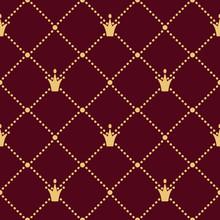 Vector Luxury Crown Seamless Pattern