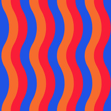 Vector Illustration. Colorful Broad Wavy Striped Seamless Repeat Pattern Themed As Armenia Flag.