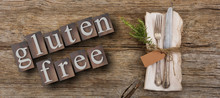 Gluten-free Text And Cutlery O...