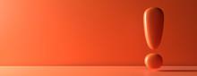 Exclamation Mark On Orange Col...