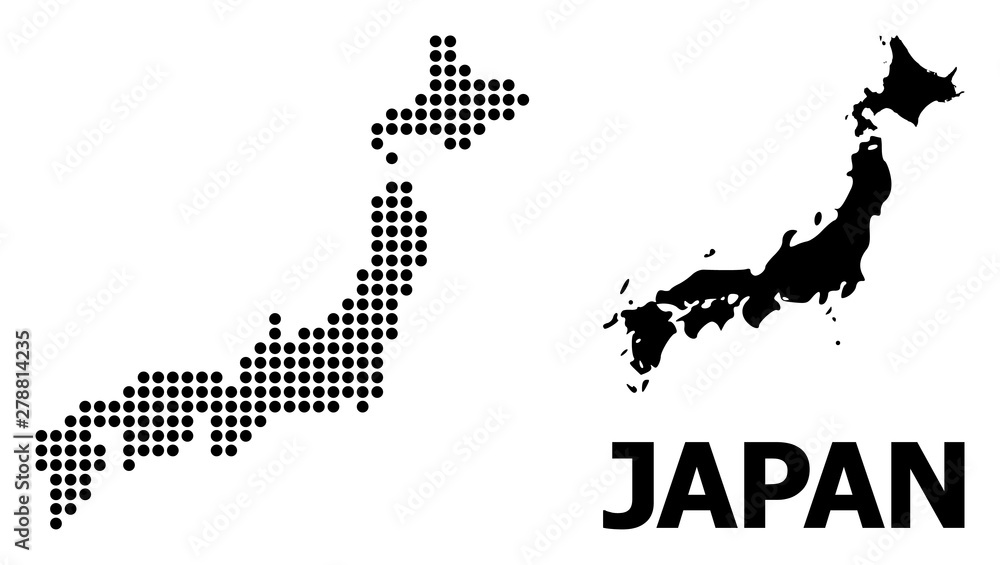 Dotted Pattern Map of Japan