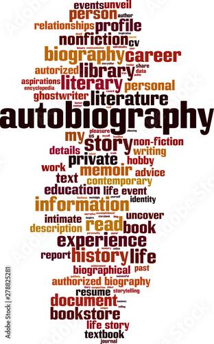 Autobiography word cloud Canvas Print
