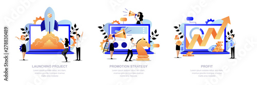 Project promotion, marketing strategy concept Canvas Print