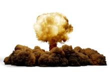 Explosion Nuclear Bomb, 3D Ren...