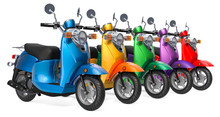 Row From Colored Classic Scoot...