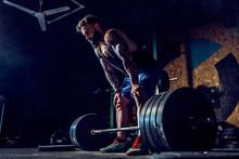 Muscular Fitness Man Preparing...