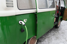 Electric Van Is Being Charged ...
