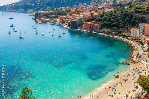 Photo Landscape panoramic coast view between Nice and Monaco, Cote d'Azur, France, South Europe