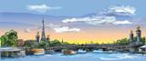 Fototapeta Paryż - Colorful vector hand drawing Paris 4